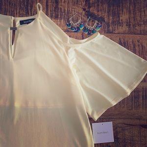 NWT Ellen Tracy cold shoulder blouse